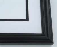 "Custom Picture Frame Sku: 880  1 1/4"" Black Double Rib"