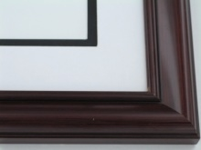 "Custom Picture Frame Sku: 882  1 1/2"" Mahogany Furniture Finish"