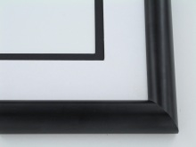 "Custom Picture Frame Sku: 903A  1"" Black Licorice"