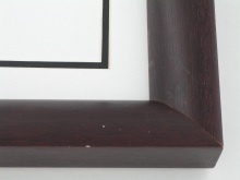 "Custom Picture Frame Sku: 911A  1-9/16"" Bordeaux Crescent"