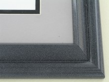 metal Custom Picture Frame Sku: 96-200  Black Marble