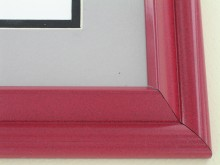 metal Custom Picture Frame Sku: 96-202  Red  Onyx