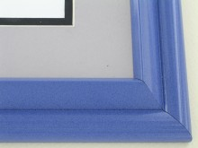 metal Custom Picture Frame Sku: 96-204  Deep Blue Onyx