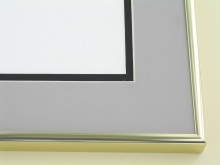 metal Custom Picture Frame Sku: A-1132  Shiny Gold