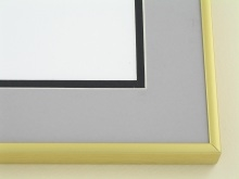 metal Custom Picture Frame Sku: A-1133  Frosted Gold