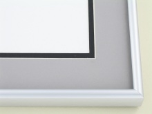 metal Custom Picture Frame Sku: A-1531  Frosted Silver