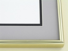metal Custom Picture Frame Sku: A-1532  Shiny Gold