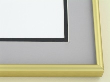 metal Custom Picture Frame Sku: A-1533  Frosted Gold