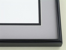 Custom Picture Frame Sku: A-1534  Shiny Black