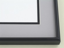 Custom Picture Frame Sku: A-1535  Frosted Black