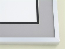 metal Custom Picture Frame Sku: A-2031  Frosted Silver