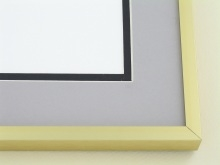 Custom Picture Frame Sku: A-2033  Frosted Gold