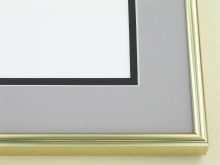metal Custom Picture Frame Sku: A-5032  Shiny Gold