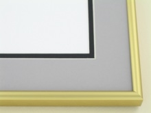 Custom Picture Frame Sku: A-5033  Frosted Gold