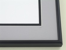 Custom Picture Frame Sku: A-5035  Frosted Black