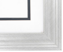 Custom Picture Frame Sku: AAM0103  1 7/8 Brushed Silver