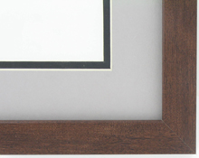 "wood Custom Picture Frame Sku: AAM0112  1"" Medium Walnut"