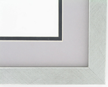 "Custom Picture Frame Sku: AAM0113  1"" Brushed Silver"""