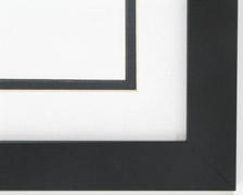 "Custom Picture Frame Sku: AAM0120  1 1/4"" Flat Black"