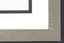 "Custom Picture Frame Sku: AAM0500  1 1/16"" Hammered Grey Pearlized"