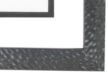 "wood Custom Picture Frame Sku: AAM0507  1 1/16"" Hammered Black Pearlized"