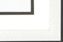 "wood Custom Picture Frame Sku: AAM0509  1 1/16"" Hammered White Pearlized"