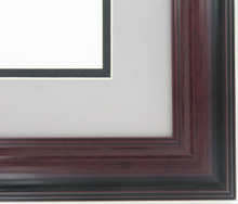 "wood Custom Picture Frame Sku: AAM1202  1 5/8"" Mahogany High Gloss"