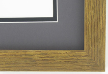 "Custom Picture Frame Sku: AAM1502  1 1/8"" Flat Spanish Walnut Square"