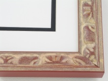 "wood Custom Picture Frame Sku: AAM2006  1-3/8"" Terracotta Grecian Series"