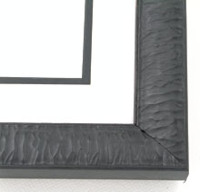 "wood Custom Picture Frame Sku: AAM2037  1-3/8"" Black Crinkled"