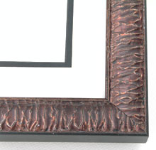 "wood Custom Picture Frame Sku: AAM2038  1-3/8"" Copper Crinkled"