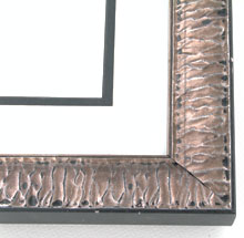 "Custom Picture Frame Sku: AAM2039  1-3/8"" Silver Crinkled"