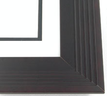 "wood Custom Picture Frame Sku: AAM4017  2-3/4"" Black Metropolitan Step"""