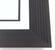 "wood Custom Picture Frame Sku: AAM4018  2-3/4"" Bordeaux Metropolitan Step"""