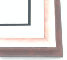 "wood Custom Picture Frame Sku: AAM4020  1-3/4"" Silver Rose Wave"""