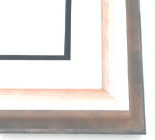 "wood Custom Picture Frame Sku: AAM4021  1-3/4"" Sliver Amber Wave"""