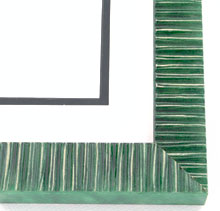 "Custom Picture Frame Sku: AAM5006  1-1/2"" High Gloss Green"