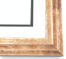 "wood Custom Picture Frame Sku: AAM5011  1-3/4"" Gold Pyramid Square"
