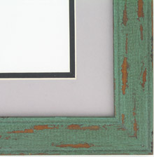 "Custom Picture Frame Sku: AAM6500  1 1/2"" Green Distressed"