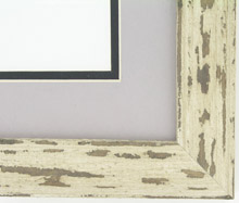 "Custom Picture Frame Sku: AAM6501  1 1/2"" White Distressed"
