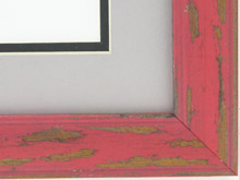 "Custom Picture Frame Sku: AAM6502  1 1/2"" Red Distressed"