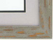 "Custom Picture Frame Sku: AAM6503  1 1/2"" Grey Distressed"