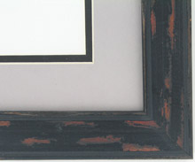 "Custom Picture Frame Sku: AAM6504  1 1/2"" Black Distressed"