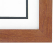 "wood Custom Picture Frame Sku: AAM7000  1 1/2"" Estate Cherry"