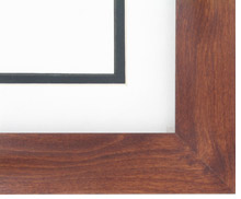 "wood Custom Picture Frame Sku: AAM7001  1 1/2"" Canadian Walnut"