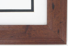 "wood Custom Picture Frame Sku: AAM7005  2"" Dark Walnut Rustic Pine"