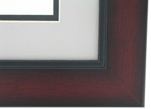 "wood Custom Picture Frame Sku: AAM7009  1 3/4"" Windsor Mahogany Two Tone"