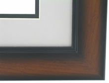 "wood Custom Picture Frame Sku: AAM7010  1 3/4"" Windsor Pecan Two Tone"