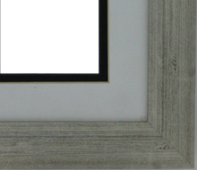 "Custom Picture Frame Sku: AAM7017  1 1/4"" Olde World Silver"