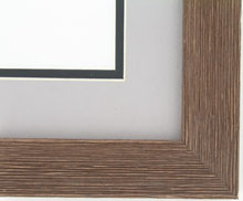 Custom Picture Frame Sku: AAM9005  1 1/2 Barnwood Redish Brown